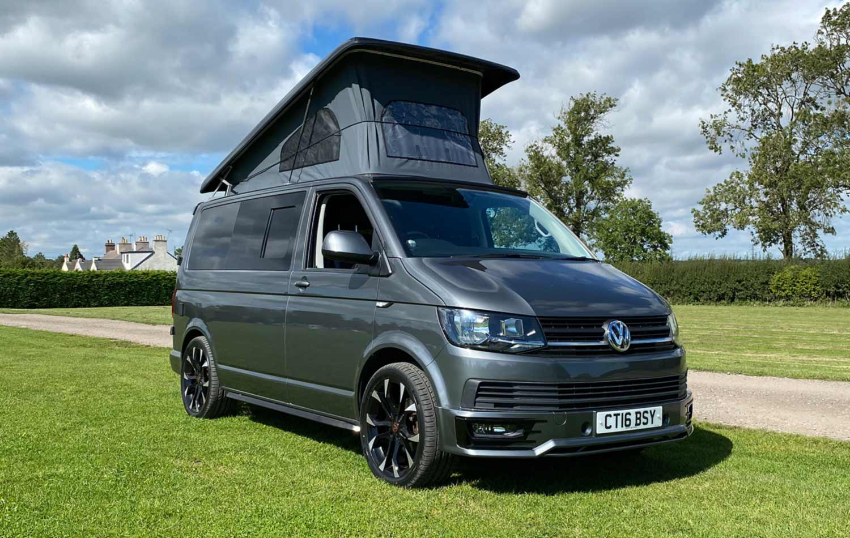 Merlin, one of Good Vibes' T6 VW campervans